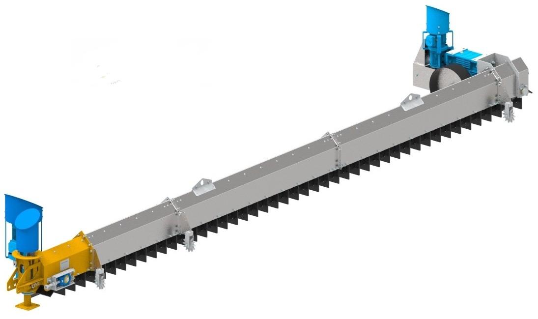 estrattore automatico rotativo a catena per silos